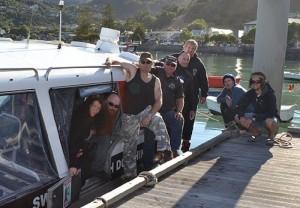 Hector's team - Pete, Scotty, Fiona Harman, Blackcat Cruises