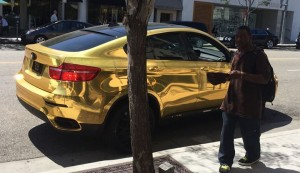 the Gold Plated BMW in beverley Hills