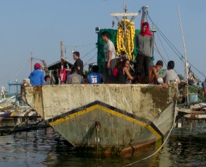 "Crew of the ""Dan Israel R"" after she was impounded in the Philippines"